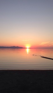 Sunset on the Great Salt Lake.