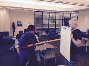 SLCC Student Writing Center Peer Writing Advisors John Ramirez (L) and Jarrod Barben (R) Actually Write wit the Pencil